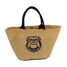 UGA University of Georgia Bulldogs Dawgs Avalon Jute Tote Bag 19 x 12 x 6 - NEW!