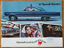 1967 Plymouth Belvedere sales brochure catalog booklet pamphlet Bellingham WA