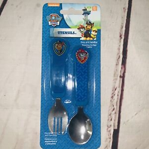 Nickelodeon Paw Patrol Toddler Fork and Spoon Flatware Set Boys  NEW