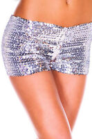 New 1Pc Women Mini Sequin Casual Night Elastic Pants Bottoming Shorts Size 8-14