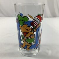 """VTG Anchor Hocking Disney Winnie The Pooh Juice Glass 4.5"""" What's Cooking Pooh?"""