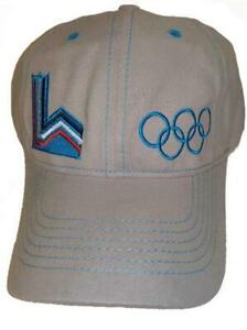 1980 Lake Placid NY USA Winter Olympics Mens OSFA Gray Cap Hat