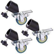 3pcs Heavy Duty Tripod Studio Rolling Caster Wheels For Light Stand & Photo Boom