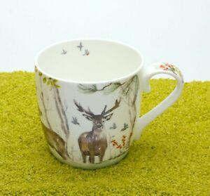 Könitz Porzellan Henkelbecher Victoria Lowe - Winter Deer (Hirsch) 450ml