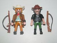 Playmobil Figurine Personnage Lot Cowboy + Sheriff & Fusils NEUF