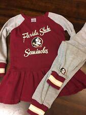 2T FSU Seminoles Cheerleader Long Sleeve Outfit Garnet Gray Pants