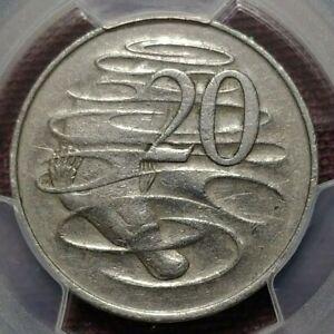 PCGS XF45 Australia 1966 (L) London Mint Wavy '2' 20c Twenty Cent Coin Cents