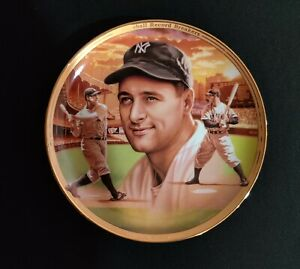 """Lou Gehrig New York Yankees 1996 Bradford Exchange Limited Edition Plate 8"""" MINT"""