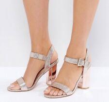 ASOS Rose Gold Glitter Heels Size 4