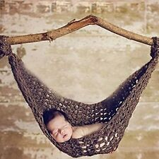 AiXiAng Baby Newborn Photography Prop Baby Handmade Crochet Knitted Hammock Hat