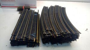 Lot of OVER 130 HO Scale  Brass Train Track , Plastic Ties.