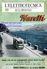 E-Bus Marelli Italy Italian 1944 ad Lago di Como A. Volta advertising cover
