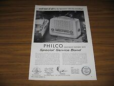 1953 Print Ad Philco Special Service Band Radios Multiwave Portable Toy Boat