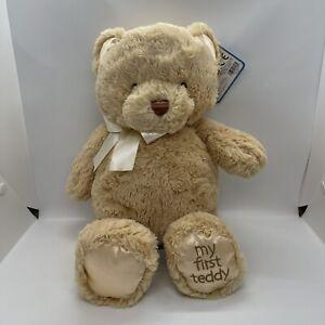 "Baby Gund My First Teddy Bear Tan 15"" Soft New With Tag 6048626"
