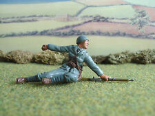 C.T.S World War 2 Italain soldier prone throwing grenade 1:32 painted
