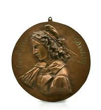 Charlotte Corday 1793 médaillon bronze révolution française French revolution
