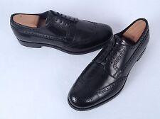 PRADA Wingtip Oxford- Black Size 9 US/ 8 UK $750  (H7)
