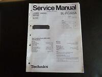 Original Service Manual Technics Compact Disc Player SL-PG360A