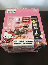RE-MENT 8 Set Hello Kitty Hannari Japanese Sweets, 1:6 Barbie kitchen food minis