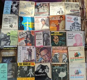 NICE JOB LOT BUNDLE OF  25  UK COMEDY EP'S   IN ORIGINAL PICTURE SLEEVE COVERS
