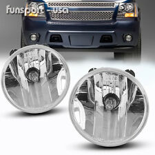 for 07-13 Chevy Avalanche Suburban Tahoe GMC Clear Fog Lights Driving Lamps PAIR