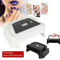 72W Rechargeable Nail Lamp  LED Light Nail Polish Dryer Gel Curing Machine