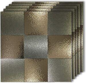 5 Sheets 12''x12''x2'' Peel and Stick Backsplash Tiles for Kitchen Wall Decor