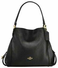 COACH EDIE 31 Hobo Leather Shoulder Bag Satchel Purse 57125 36464 Black Gold NWT