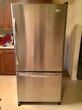 Whirlpool 22 Cubic Foot Stainless Bottom Freezer Refrigerator