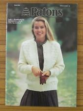 PATONS KNITTING - 944 LADIES CARDIGAN JUMPERS BEEHIVE 5, 8 & 12 PLY