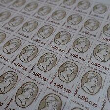 FEUILLE SHEET FRANCOBOLLO POETA MAX JACOB N°1881 x50 1976 NEUF LUXE MNH