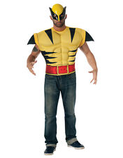 Wolverine Adult Muscle Chest Top and Mask Costume Kit , Standard, CHEST 44""