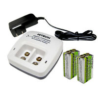 2 of 9v Li-Poly battery+Charger(2 Bank)For Duracell,Panasonic..9v LiPoly Battery