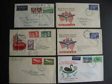 Australia 6 old FDC first day covers, mixed condition, check them out!