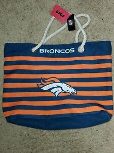 NFL Denver Broncos Women's Nautical Stripe Tote Bag