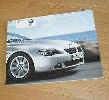BMW 6 Series Brochure 2004 - 630I 645 CI Coupe Convertible