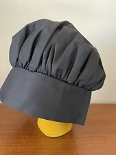 Black Chef Hat Authentic Poly/cotton One Size Usa Seller
