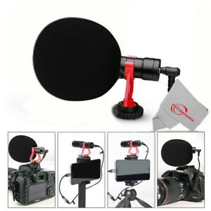Cardioid Directional Microphone Records Clear Clean Sound for Smartpone Vlogging