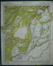 1883 LETTS MAP ~ INDIA PUNJAB BELUCHISTAN AFGHANISTAN