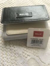 RELIC BRYCE  wallet Collection Small Trifold  GREY Black & White. New! retail 34