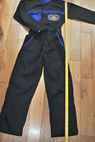 KIDS CHILD PIT CREW MECHANIC MOTORCYCLE OVERALL BLUE WITH BADGE DETAIL