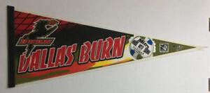 MLS Dallas Burn Vintage Defunct Circa 1998 Logo Soccer Felt Pennant Mitre