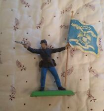 Deetail Toy Soldier With Flag Made In England, Britains LTD, Vintage, 1971