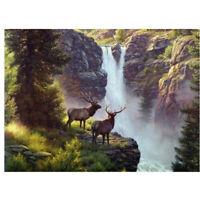 5D Full Drill Diamond Painting Cross Stitch Kits Embroidery Mountain Elk Decor