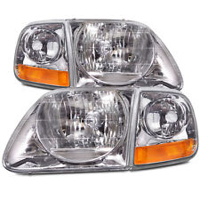 Ford F150 Expedition Lightning Style Headlights New 4Pc Set w/ Corner Light Pair