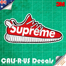 Supreme Shoe Decal Sticker - Car Luggage Skateboard. 3M Film. 100mm.