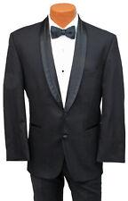 50R Men's Black El Rey Tuxedo Jacket with Pants Prom Wedding Cruise Quinceañera