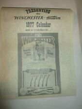 Authentic/Original Vintage Winchester 1977 Calendar - New Old Stock