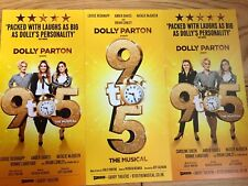 9 TO 5 WEST END MUSICAL THEATRE HANDBILL/FLYERS X3-LOUISE REDNAPP-DOLLY PARTON
