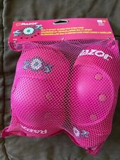 Razor Daisy Multi Sport Elbow Knee Pads Pink Youth Ages 8 Excellent Condition!